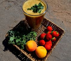 I Wasn't Expecting That...: Apricot, Strawberries And Kale Smoothie...