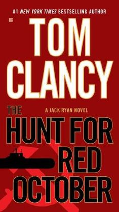 The Hunt for Red October-great read about the Russian Submarine and the Jack Ryan character is surprisingly real.  The was the beginning for Tom Clancy's techno/military thrillers.
