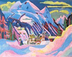 Ernst Ludwig Kirchner - Davos in winter, 1923