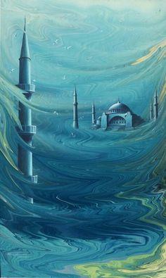 Ebru Art, Turkish Art, Silk Art, Marble Art, Arabic Art, Islamic Art, Istanbul, Artists, Architecture