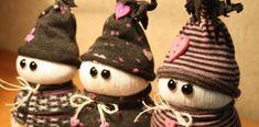 Ponožkoví snehuliaci | Návod na rozkošnú Vianočnú dekoráciu