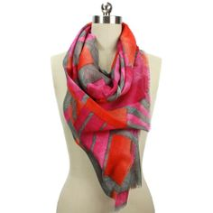 Bright summer scarves.