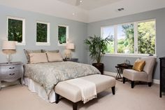 Addison Avenue - contemporary - bedroom - san francisco - James Crist Builders, Inc.-walls are Benjamin Moore Tranquility