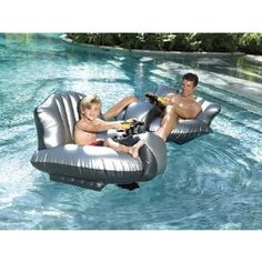 Motorized floating bumper cars. Ohhh that would be too fun.