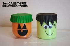 Fun Candy-free Halloween treats -- Franken/Pumpkin-Slime