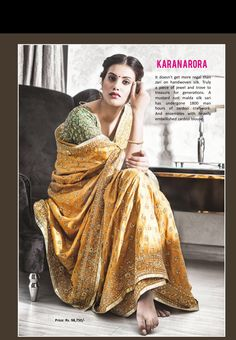 A beautiful Gold silk saree