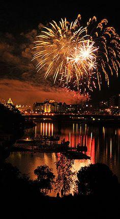 Victoria Fireworks - Happy Canada Day!