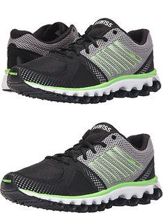 best sneakers 10c92 f3663 K-SWISS Men s X-160 CMF Cross Training Shoes (7 D(M) US, Black Neutral  Gray Flash Green Mesh)