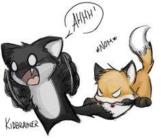 Fox VS Wolf... Haha this is cute