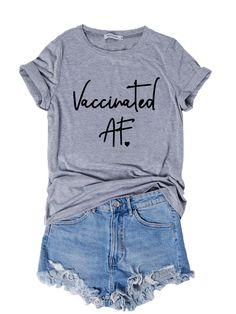 Floral-Print Short Sleeve Crew Neck Cotton T-Shirts & Tees - Anniecloth