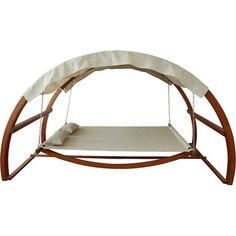 Enjoy a cozy nap by the pool with this lovely swing bed, featuring a canopy for shade and comfort on those extra sunny days.  Produc...