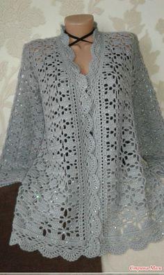 Fabulous Crochet a Little Black Crochet Dress Ideas. Georgeous Crochet a Little Black Crochet Dress Ideas. Crochet Bolero Pattern, Gilet Crochet, Crochet Coat, Crochet Cardigan Pattern, Crochet Shirt, Crochet Jacket, Cotton Crochet, Crochet Clothes, Jackets