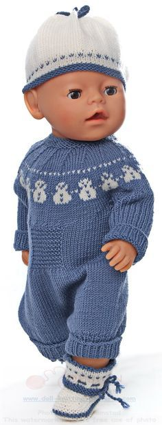 Baby Knitting Pattern Welcome to Målfrid Gausels Internet shop for dolls knitting patterns and doll clothes str … Baby Knitting Patterns, Knitting Dolls Clothes Patterns, Knitted Doll Patterns, Crochet Doll Pattern, Knitted Dolls, Clothing Patterns, Pdf Sewing Patterns, Crochet Patterns, Baby Born Clothes