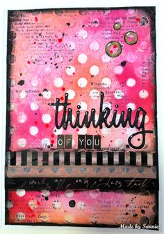 Made by Sannie http://madebysannie.blogspot.com/2016/10/thinking-of-you-card.html