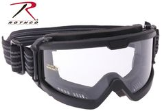Rothco Over Glasses Tactical Goggles - Black Adjustable Airsoft Military Goggle