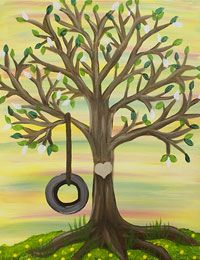 Tree Hugger canvas painting party