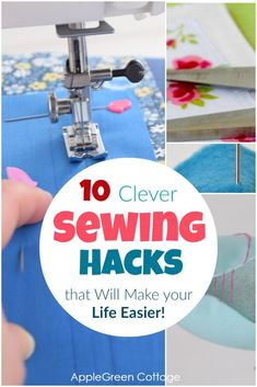 Sewing Hacks that Will Make your Life Easier! Sewing Hacks that Will Make your Life Easier!,Easy Sewing Patterns Cool sewing hacks you absolutely need to know! These sewing tips and life hacks. Easy Sewing Projects, Sewing Projects For Beginners, Sewing Hacks, Sewing Tutorials, Sewing Crafts, Sewing Ideas, Sewing Lessons, Sewing Basics, Sewing Patterns Free