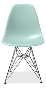 Retro~style...  Molded Plastic Chairs with Wire Base by Charles and Ray Eames