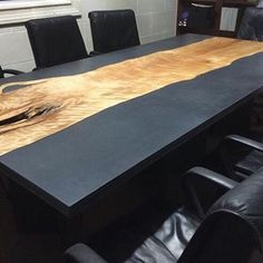 Image result for live edge and concrete table