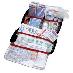 AAA 121 Piece Road Trip First Aid Kit packaged in compact hard shell foam carry case, ideal for emergency use in cars, camping, hiking, or offices alike Emergency First Aid Kit, Emergency Preparedness, Aaa Emergency, Lonely Planet, Car Safety Kit, Wire Installation, Pad, Autos, Viajes