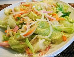 Ideas que mejoran tu vida Diet Recipes, Cooking Recipes, Healthy Recipes, China Food, Asian Recipes, Ethnic Recipes, Everyday Food, My Favorite Food, Vegetable Recipes