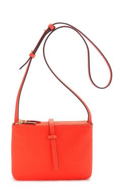"""I love all of the Annabel Ingall bags & totes - The """"Jojo"""" Crossbody Tangerine $320"""