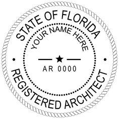 Adobe Illustrator Template For A Florida Licensed Architect Stamp
