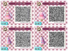 Animal Crossing: New Leaf: Pink Lolita Dresses QR Codes for Animal Crossing: New Leaf