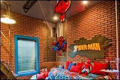 Superhero bedroom ideas - Superhero themed bedrooms - Superhero room decor - superhero bedroom decorating ideas - Superheroes bedroom ideas - Decorating ideas Avengers rooms - superhero wall murals - Comic Book bedding - marvel bedroom ideas - Superhero B Bedroom Themes, Kids Bedroom, Bedroom Decor, Bedroom Ideas, Bedroom Designs, Geek Bedroom, Bedroom Styles, Bedroom Inspiration, Dream Bedroom