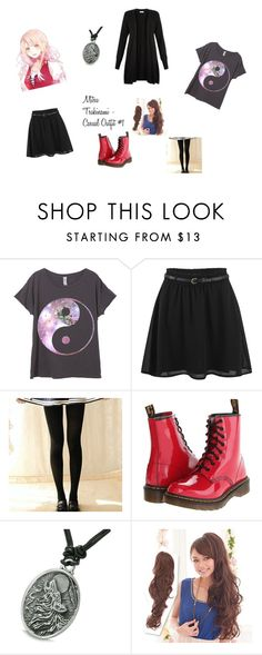 """Mitsu Tsukinami - Casual Outfit #1"" by theoneofseven on Polyvore featuring ONLY, Dr. Martens, Clair Beauty and Monsoon"