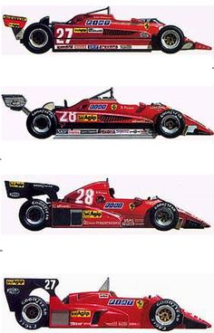 itsawheelthing: Ferrari Friday … weapon of choiceFerrari 126CK (1981), 126C2 (1982), 126C3 (1983) & 126C4 (1984)the 126 was used between '81 (to replace the ageing & uncompetitive 312T series) & '84it competed in 62 races, winning 10 times (Villeneuve, Pironi, Tambay, Arnoux & Alboreto), 24 additional podiums, it set 10 poles & 12 fastest lapsin total 254,5 world championship points were scored & it brought the Scuderia 2 Constructors World Championships ('82 & '83) & 1 vice Constructors…