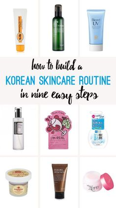 Korean #skincare in nine steps