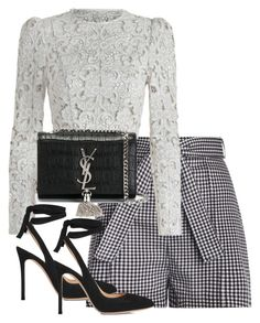 """Untitled #4092"" by theeuropeancloset on Polyvore featuring Zimmermann, Gianvito Rossi and Yves Saint Laurent"