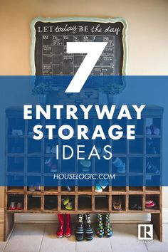 These clever entryway storage ideas will help you save time and hassle in the morning for you and your family. Find entryway organization solutions at HouseLogic. Entryway Storage, Entryway Organization, Organization Hacks, Shoe Storage, Natural Home Decor, Diy Home Decor, Feng Shui, Diy Simple, Up House