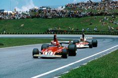Clay Regazzoni in the 1974 Ferrari 312 B3, lost the WDC to Emerson ...
