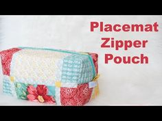 Create a zipper pouch from placemat - YouTube