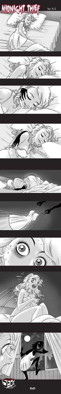 Silent Horror chap 136: Kẻ trộm nửa đêm Silent Horror Comics, Scary Comics, Fun Comics, Creepy Games, Creepy Art, Horror Drawing, Horror Art, Dark Stories, Short Stories