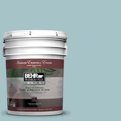 BEHR Premium Plus Ultra 5-gal. #510E-3 Ocean Kiss Eggshell Enamel Interior Paint