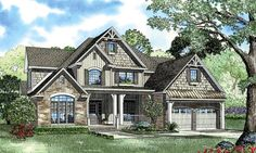 House Plan 62393 | Craftsman   European   Tudor    Plan with 2755 Sq. Ft., 4 Bedrooms, 3 Bathrooms, 2 Car Garage