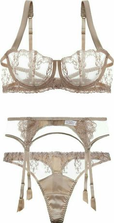 ☺ transparent-lingerie: Fleur Of England bra, suspender belt & thong Lingerie Fine, Sheer Lingerie, Pretty Lingerie, Luxury Lingerie, Beautiful Lingerie, Lingerie Sleepwear, Lingerie Set, Nightwear, Moda Lolita
