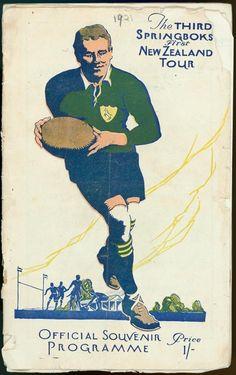 The official programme for the first series played between the Springboks and the All Blacks in The series was drawn. New Zealand Tours, New Zealand Rugby, Rugby Images, Rugby Nations, All Blacks Rugby Team, Black Beats, British Lions, Wellington New Zealand, World Rugby