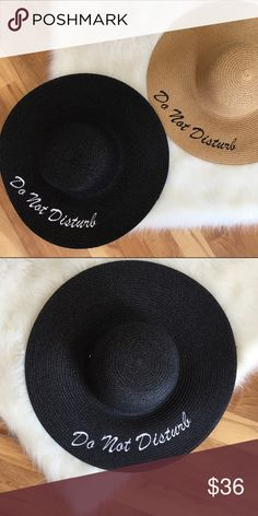 Do Not Disturb Beach hat Do Not Disturb Beach hat with white embroidered writing. Accessories Hats