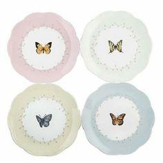Butterfly Dessert Plates