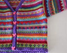 Panal del corazón pantalones tejidos a mano por KrazyKnitsbyKaren