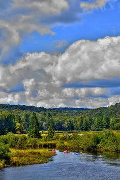 #ADK #Adirondack #Kayaks - Kayaks On The Moose River - Old Forge, New York