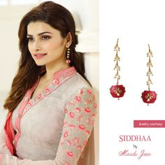 #Siddhaa #earrings #bollywood #celebrity #prachidesai #buyonline    www.siddhaa.com