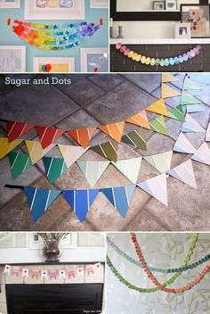 No matter what shapes you decide to use, making garlands out of paint chips is super easy and pretty awesome.