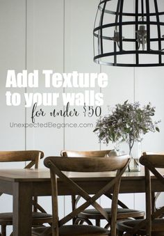 Find out how you can add wall texture for less than $50!! This is the perfect…