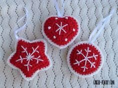 Traditional Scandinavian Ornaments | Free Crochet Pattern | Ginger Peachy