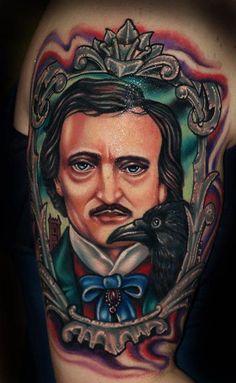 A portrait of Edgar Allen Poe #literarytattoos
